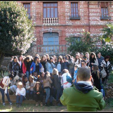 Visita al huerto del instituto Jean Paul Sartre de Bron (Lyon-Francia)