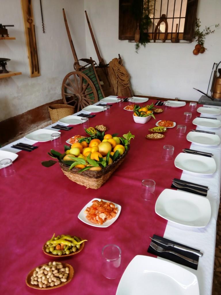 Almuerzo huerto San Eusebio