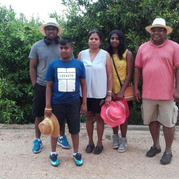 Visita del Huerto desde Sri Lanka